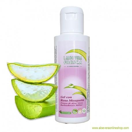 98% Aloe Vera Gel con Rosa Mosqueta 100ml